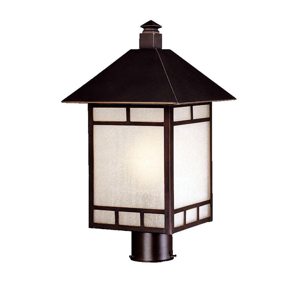 Artisan 1-Light Architectural Bronze Outdoor Post Light
