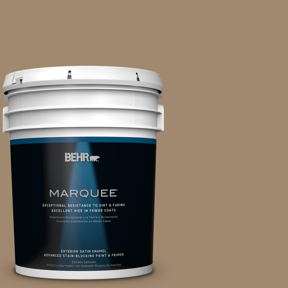 BEHR MARQUEE 5-gal. #PMD-102 River Mud Satin Enamel Exterior Paint