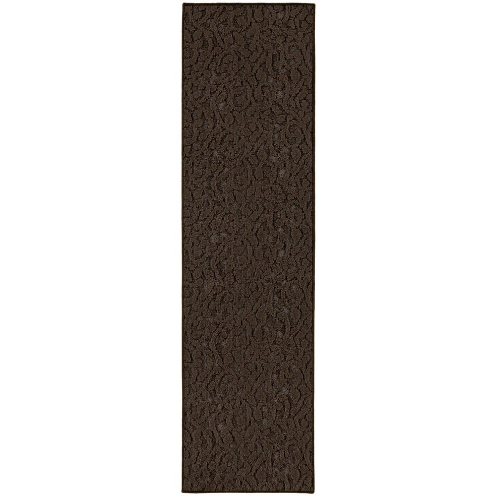 Garland Rug Ivy 2 Ft X 8 Ft Area Rug Runner Chocolate