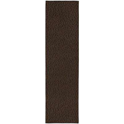 Ivy 2 Ft. x 8 Ft. Area Rug Runner Chocolate