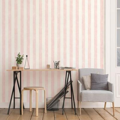 Stripe Pink with Texture Wallpaper