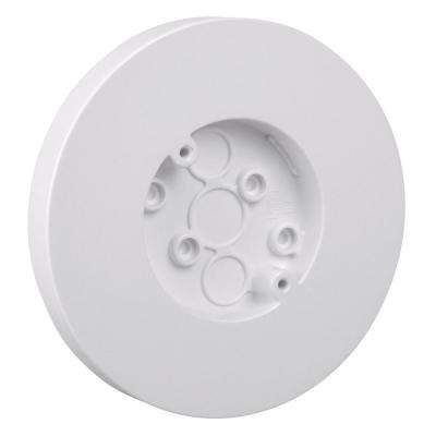3.8 cu. in. Round Surface Outlet Box White (Case of 50)