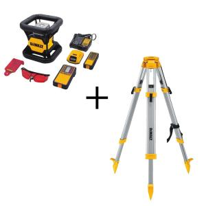 Dewalt 20-Volt Lithium-Ion Red Rotary Laser Level with Bonus Construction Tripod by DEWALT