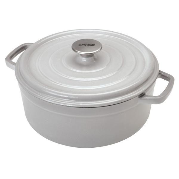 5 qt. Round Cast Iron Dutch Oven in Weathered Gray with Lid