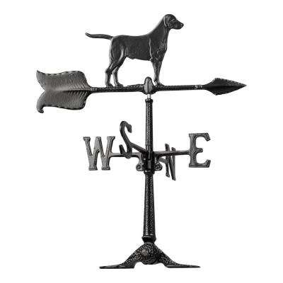 24 in. Black Retriever Accent Weathervane