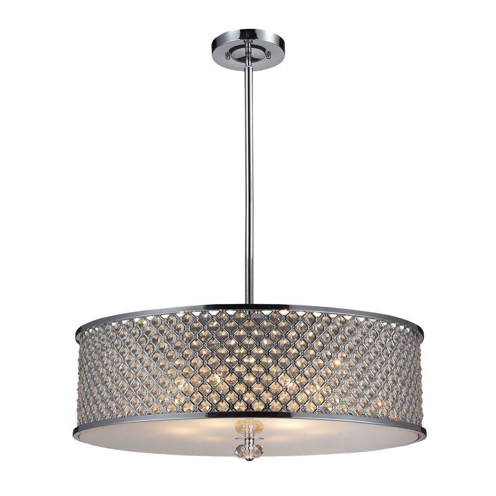 Genevieve 6-Light Polished Chrome Ceiling Pendant