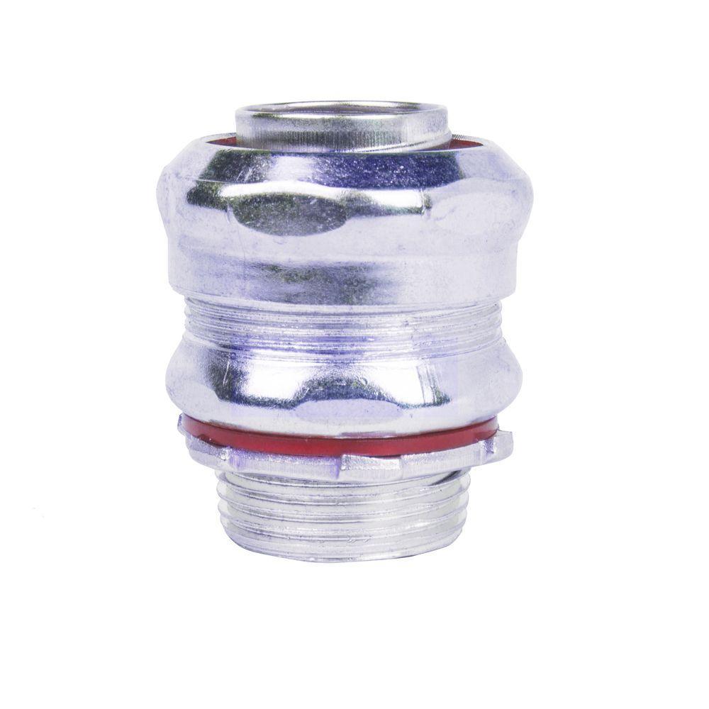 3/8 in. Straight Metal Liquidtight Connector (25 per Case)