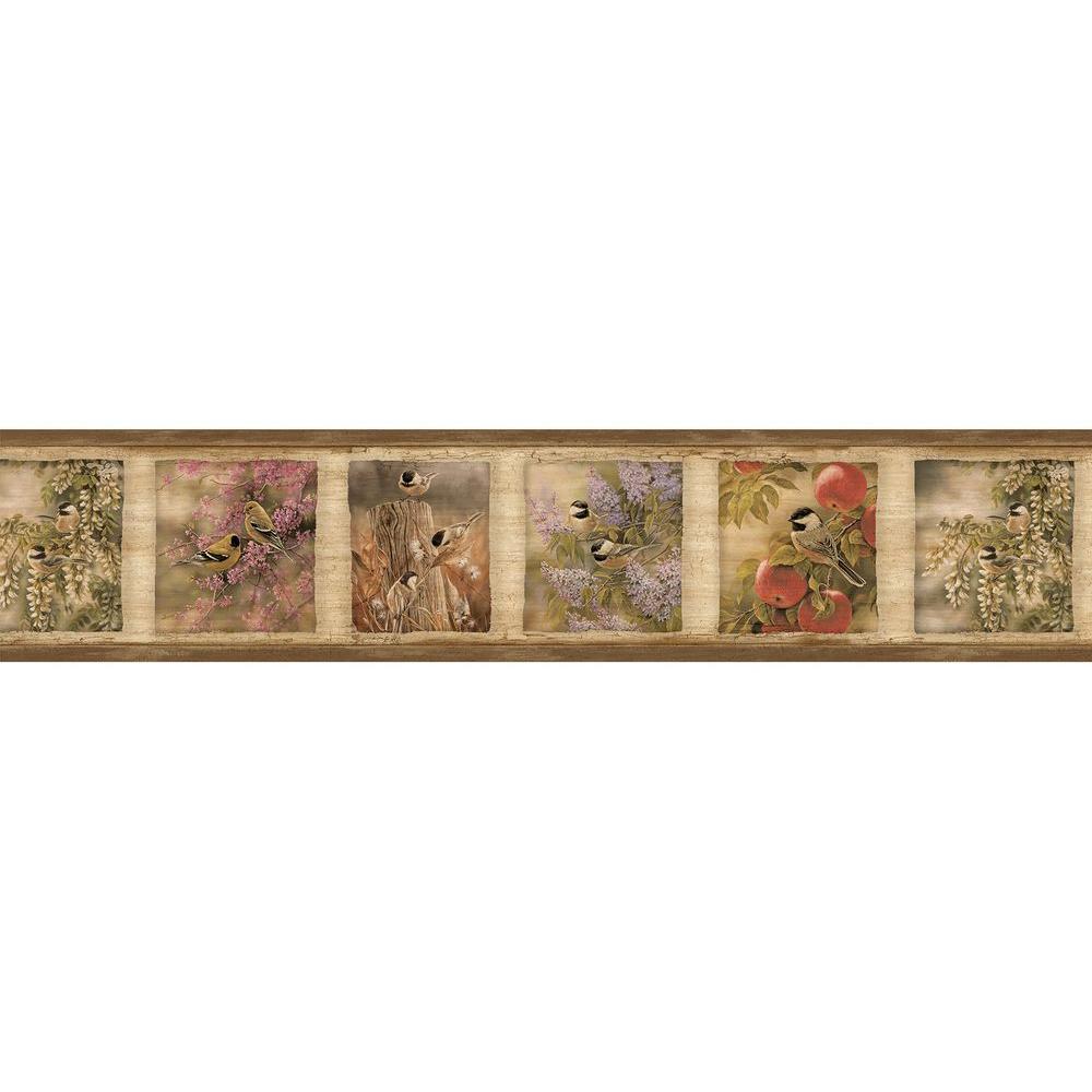 Oconee Brown Springfield Brown Wallpaper Border Sample
