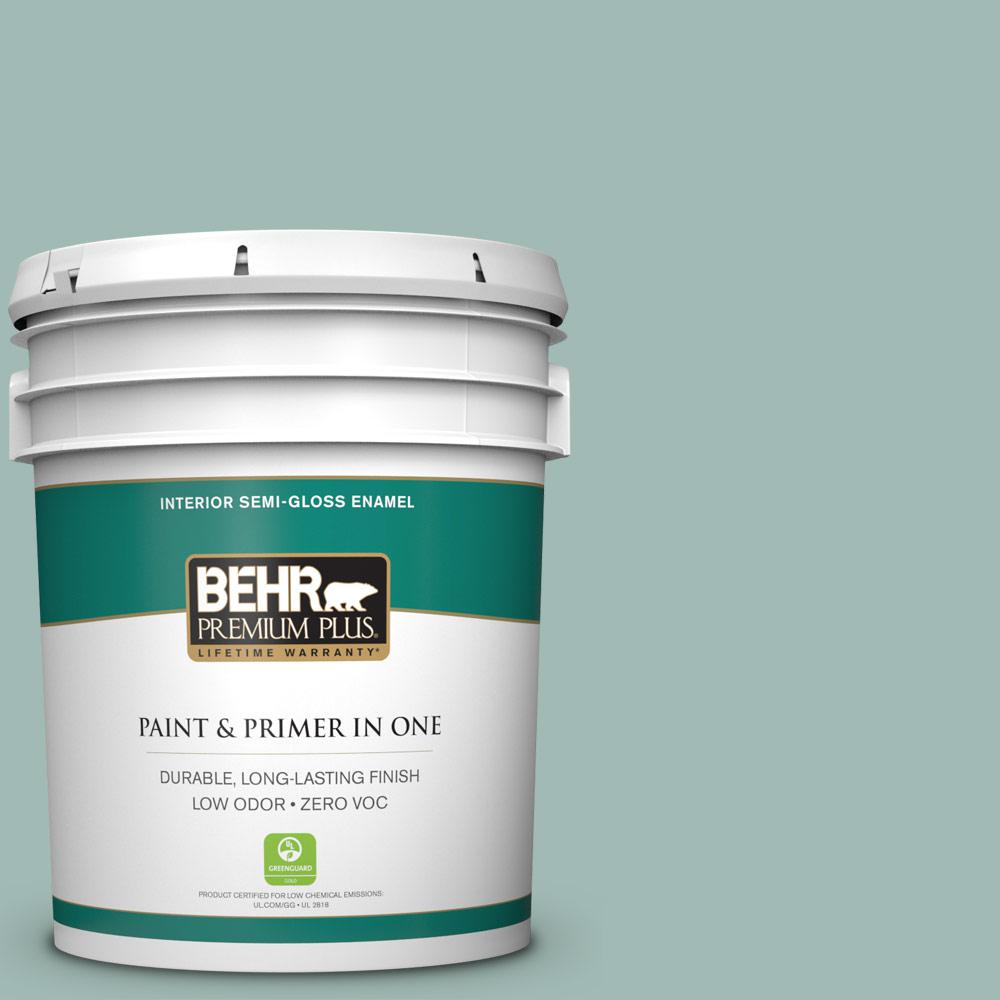 BEHR Premium Plus 5-gal. #S430-3 Garden Twilight Semi-Gloss Enamel Interior Paint