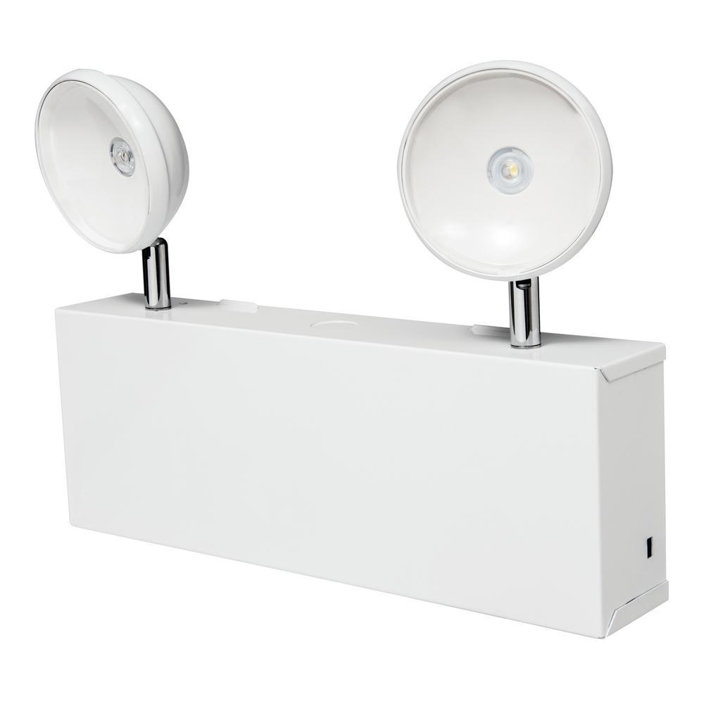 Sure Lites Xr Series 1 7 Watt 2 Head White Integrated Led Emergency Light