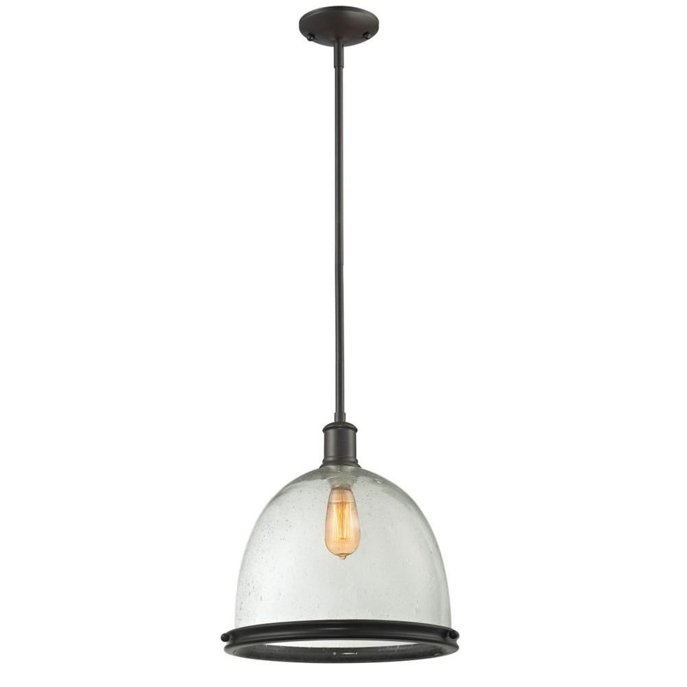 Filament Design Warren 1-Light Bronze Pendant-CLI-JB
