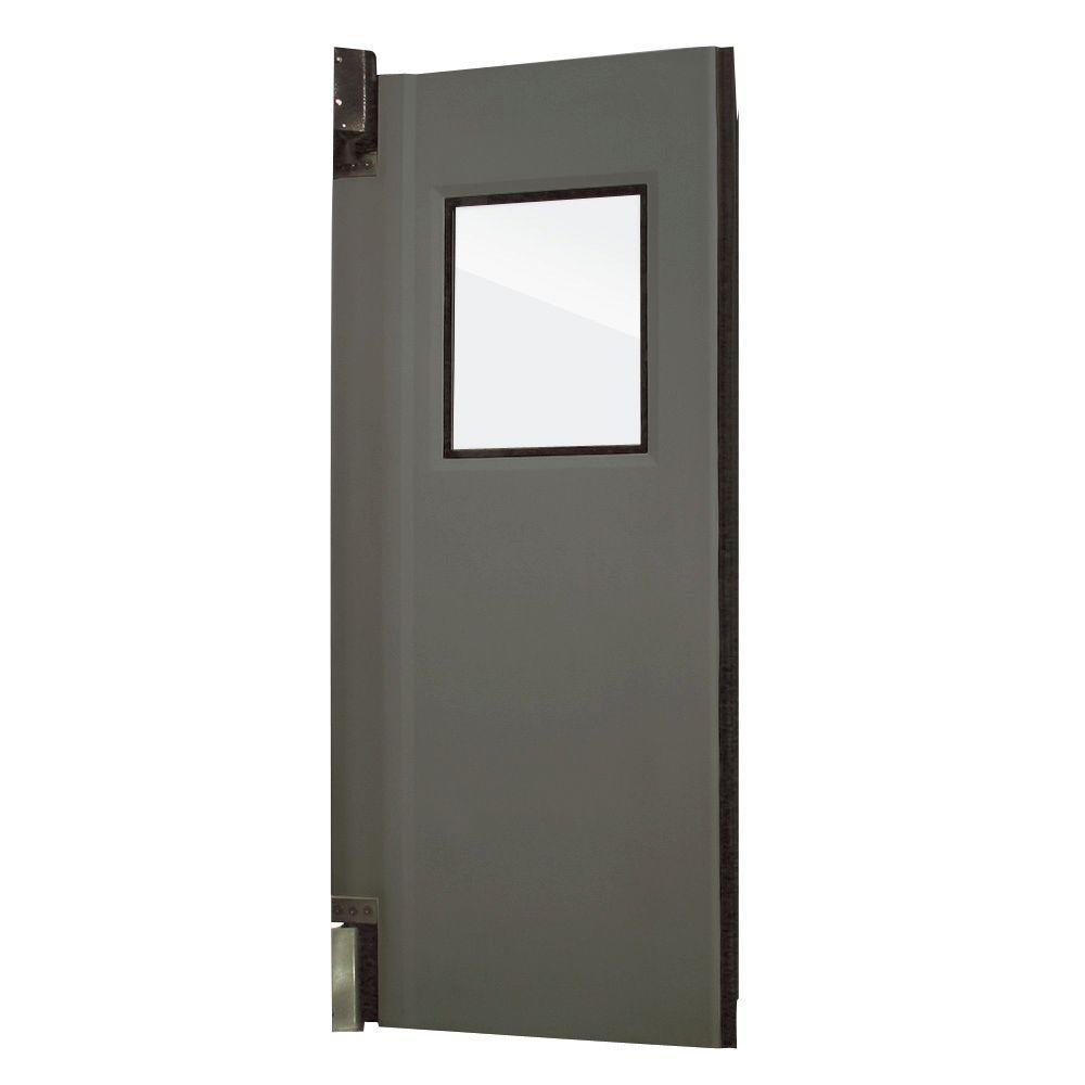 Aleco ImpacDor HD-175 1-3/4 in. x 36 in. x 84 in. Charcoal Gray Impact Door