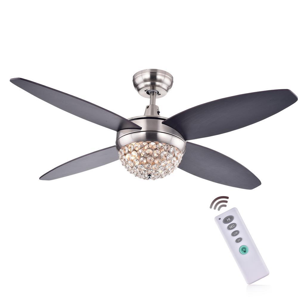Balavis 47 in. Indoor Nickel Ceiling Fan with Light Kit