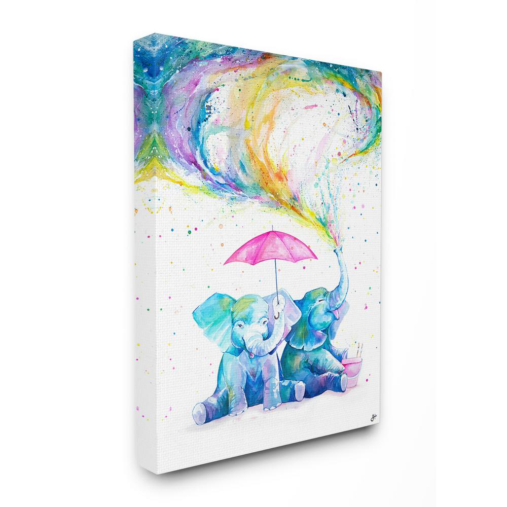 XGXC Abstract Watercolors Automatic Tri-fold Umbrella Inside Print One Size