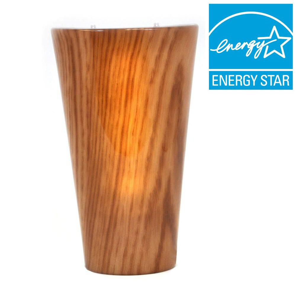 It's Exciting Lighting Vivid Series Cherrywood Style Indoor/Outdoor Battery Operated 5-LED Sconce