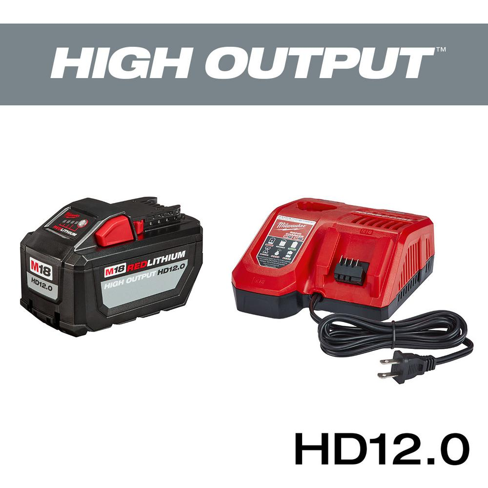 Milwaukee Milwaukee M18 18-Volt Lithium-Ion High Output Battery Pack 12.0Ah and Rapid Charger Starter Kit
