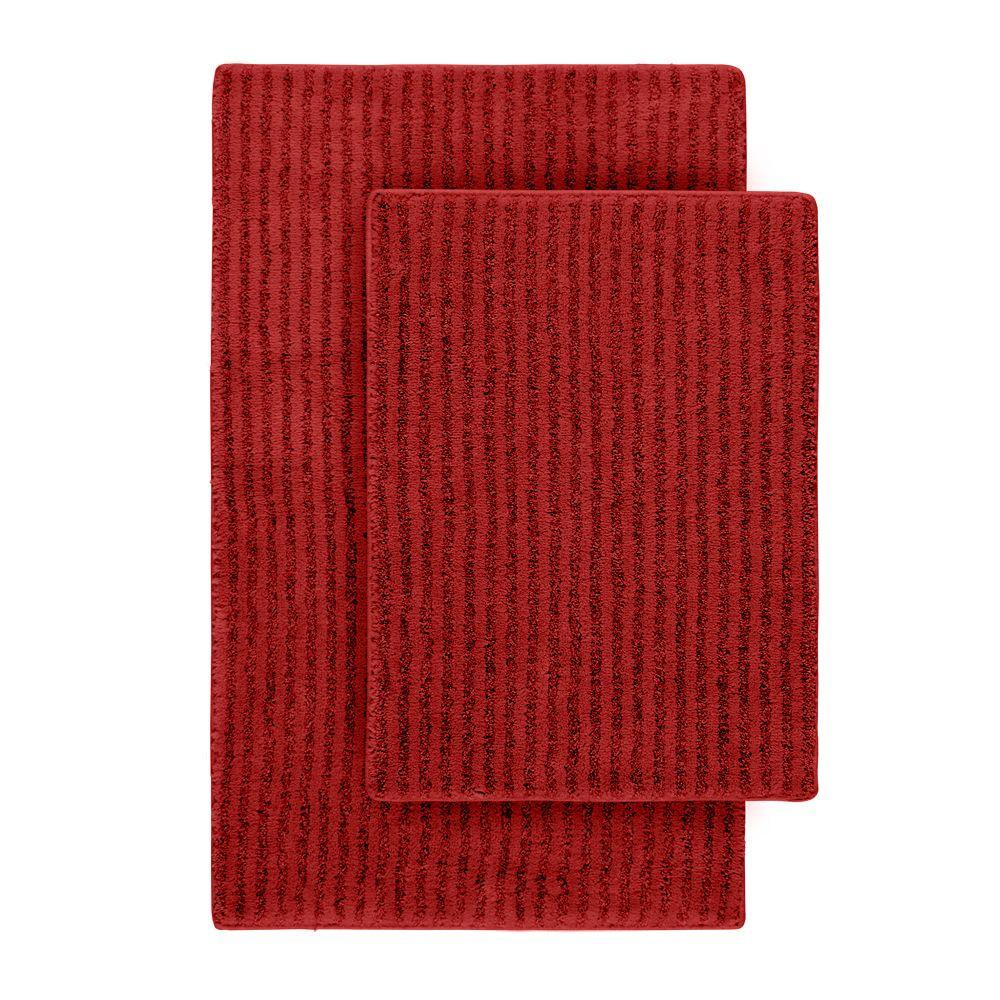 Sheridan Chili Pepper Red 21 in. x 34 in. Washable Bathroom