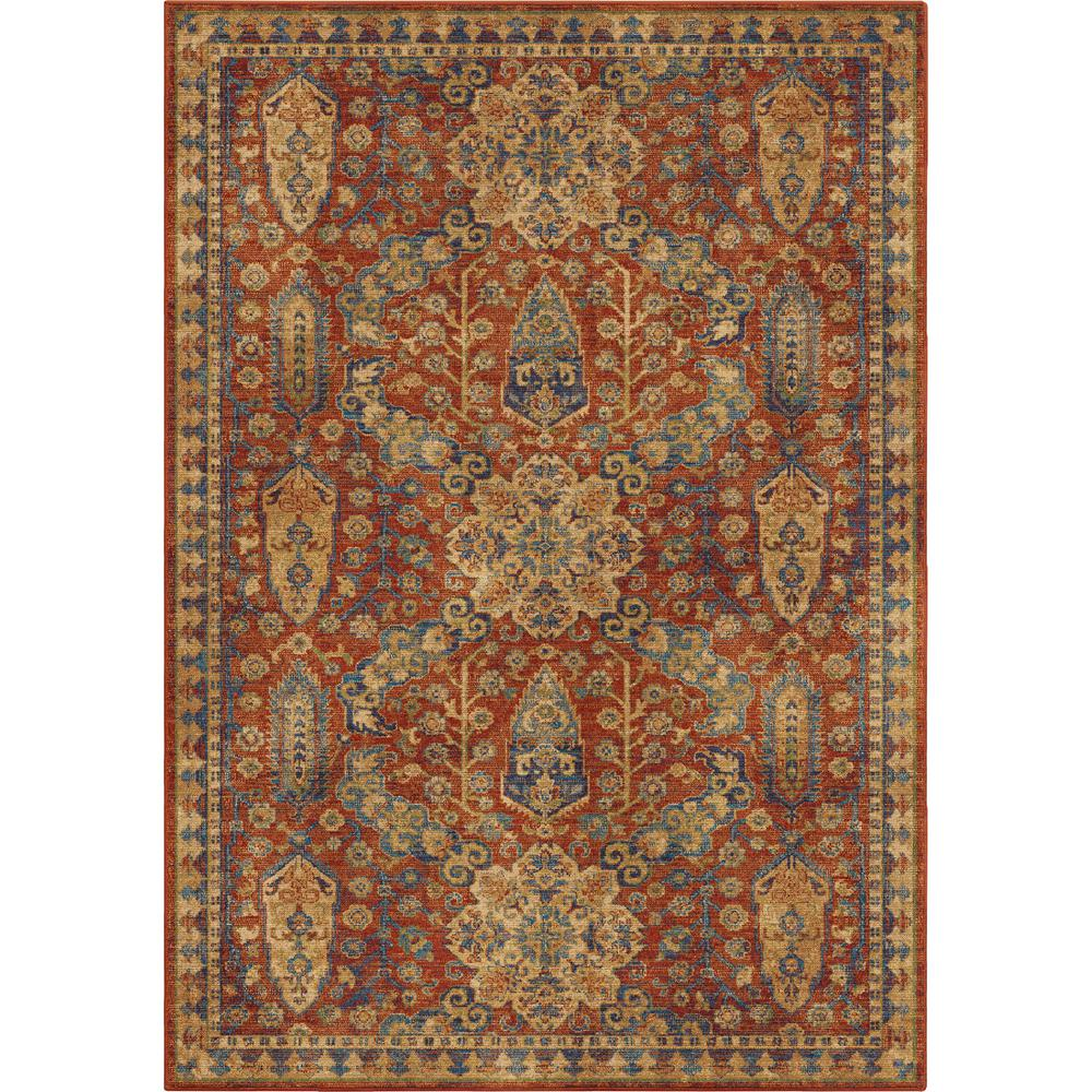 Orian Rugs Navi Moroccan Red 5 Ft. X 8 Ft. Area Rug-381795