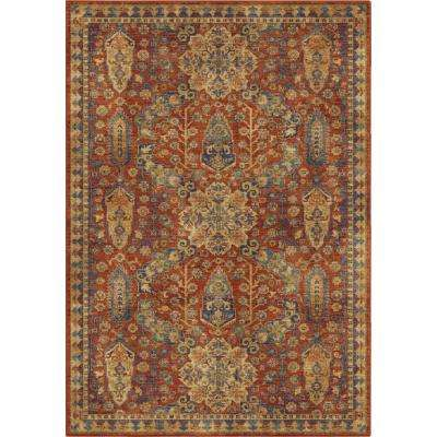 Navi Moroccan Red 5 ft. 3 in. x 7 ft. 6 in. Area Rug