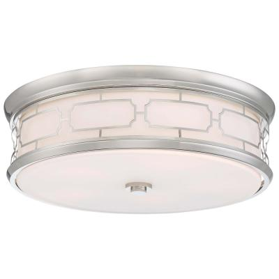 200-Watt Equivalent 20 in. Polished Nickel Integrated LED Flush Mount