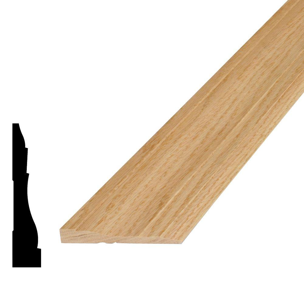 11/16 in. x 3-1/2 in. x 96 in. Oak Casing Moulding