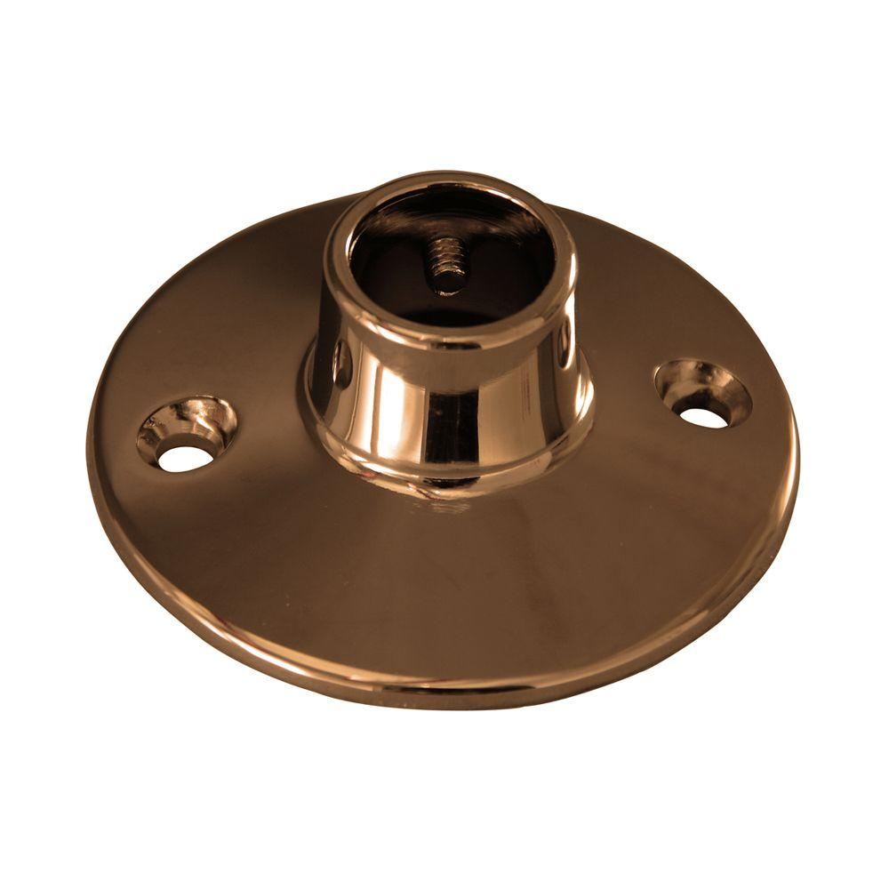 Barclay 0.75 in. Round Flange for 4150 Rod in Polished Brass