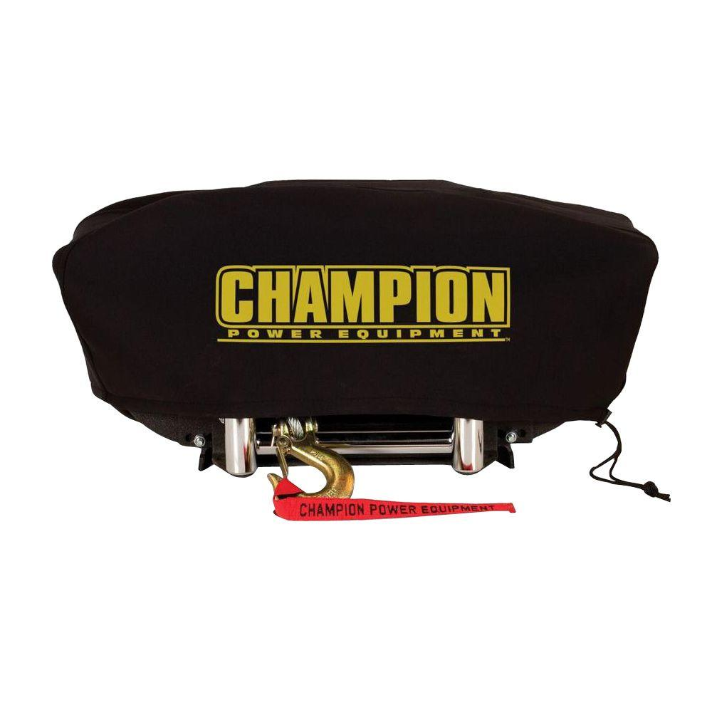 Champion Power Equipment Large Neoprene Winch Cover for 8000 lb. - 10,000 lb. Champion Winches with Speed Mount Hitch Adapter