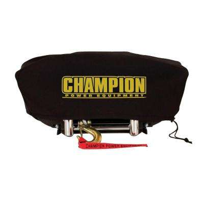 Large Neoprene Winch Cover for 8000 lb. - 10,000 lb. Champion Winches with Speed Mount Hitch Adapter