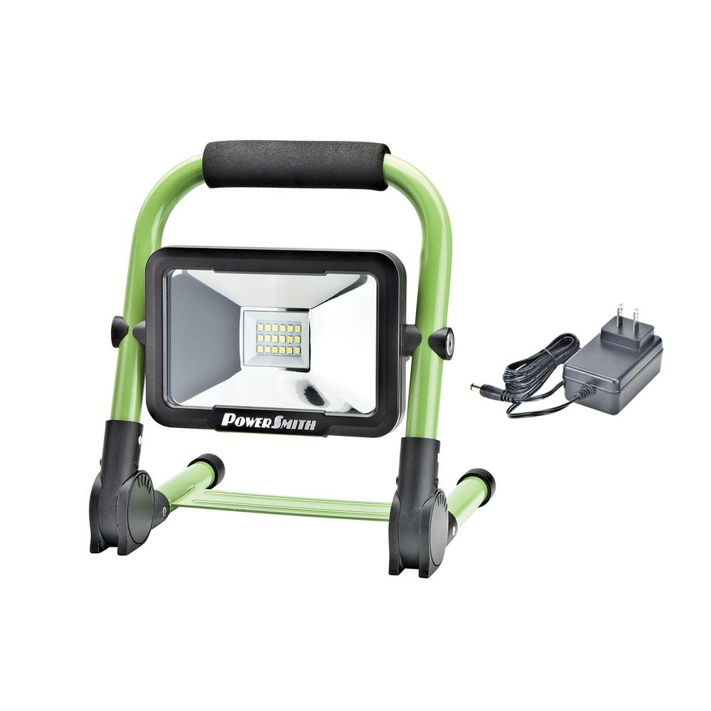 PowerSmith 10-Watt 900 lm Rechargeable Foldable Green Integrated LED Work Light