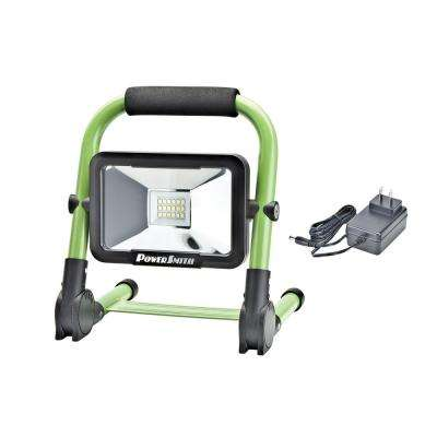 10-Watt 900 lm Rechargeable Foldable Green Integrated LED Work Light