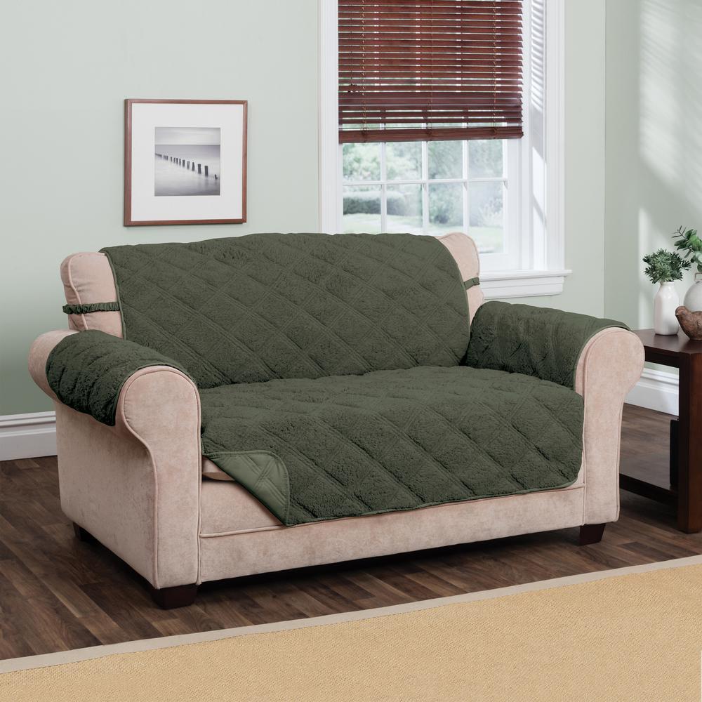 Hudson Green Waterproof Loveseat Furniture Cover Hunter