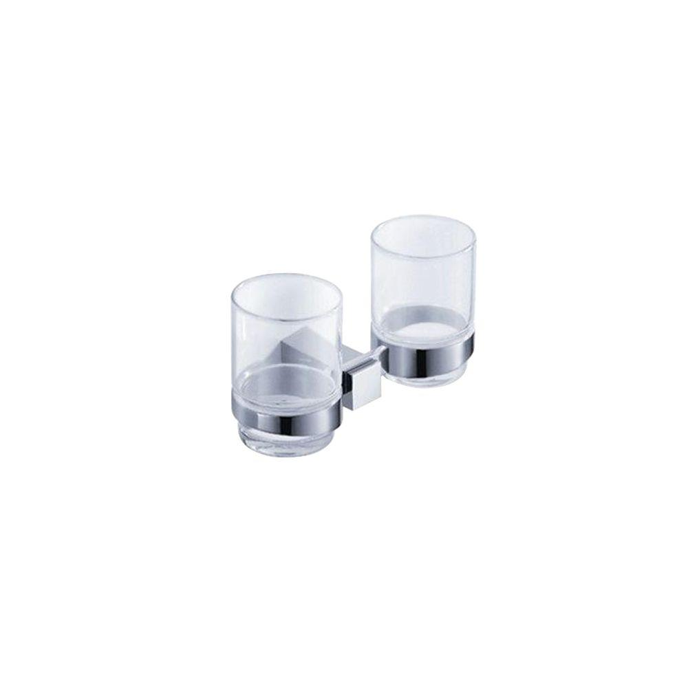 Ellite Double Tumbler Holder in Chrome