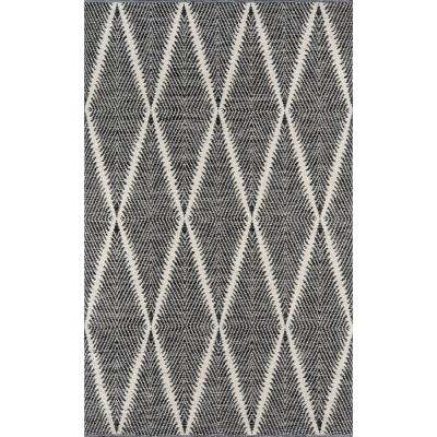 Beacon Black 3 ft. 6 in. x 5 ft. 6 in. Indoor/Outdoor Accent Rug