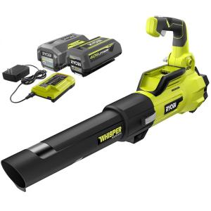 125 MPH 550 CFM 40-Volt Lithium-Ion Brushless Cordless Jet Fan Leaf Blower, Two 4.0 Ah Batteries and Charger Included