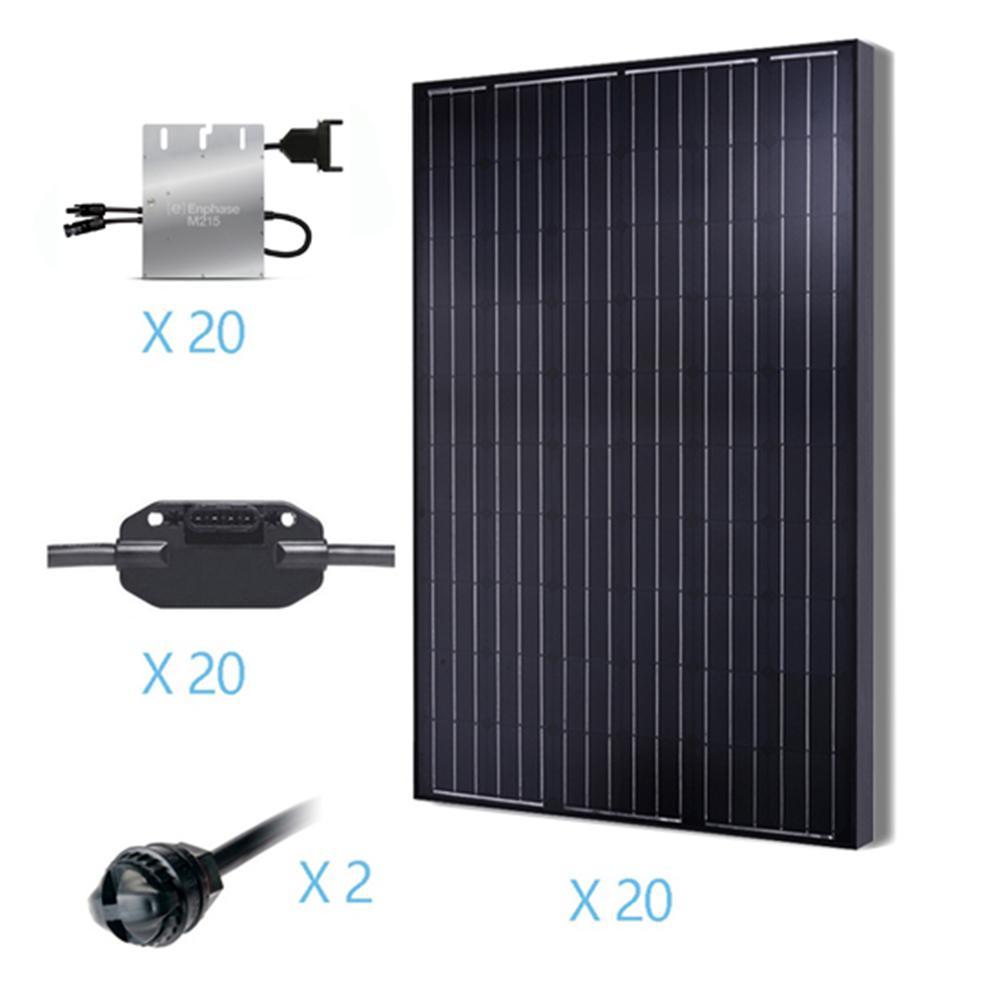 5000-Watt Monocrystalline Solar Kit for On-Grid Solar System