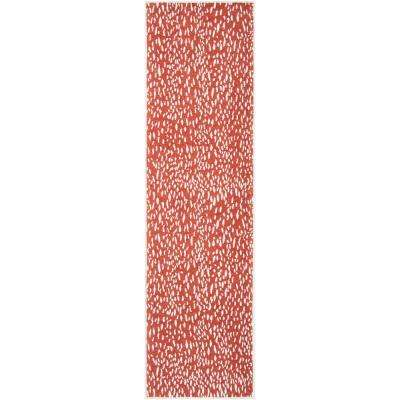 Marbella Red/Ivory 2 ft. 3 in. x 8 ft. Runner Rug