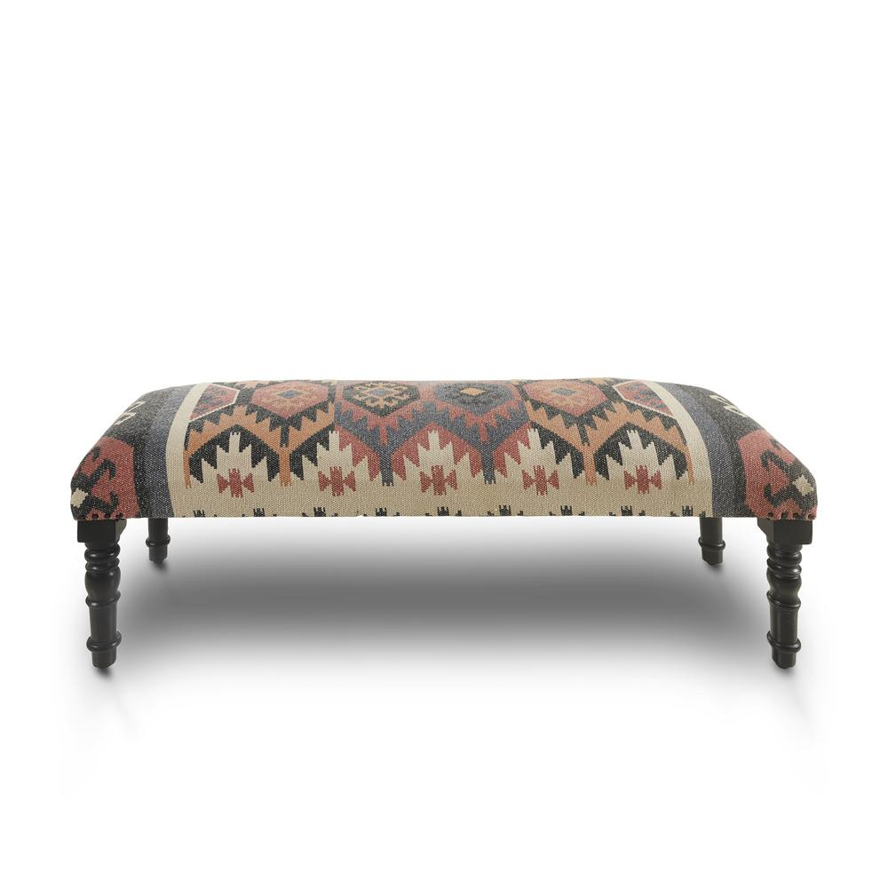 Sensational Lr Home Southwest Bohemian Red Multi Color Indoor Bench Machost Co Dining Chair Design Ideas Machostcouk