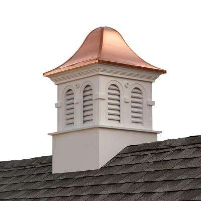 Smithsonian Montgomery 36 in. x 57 in. Vinyl Cupola with Copper Roof