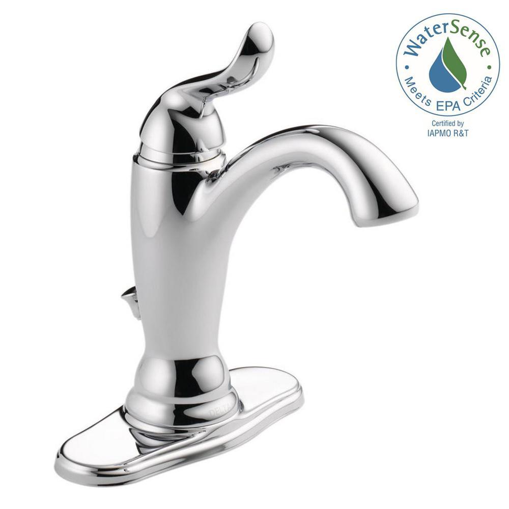 Delta Single Handle Bathroom Faucets delta addison single hole single-handle bathroom faucet with metal