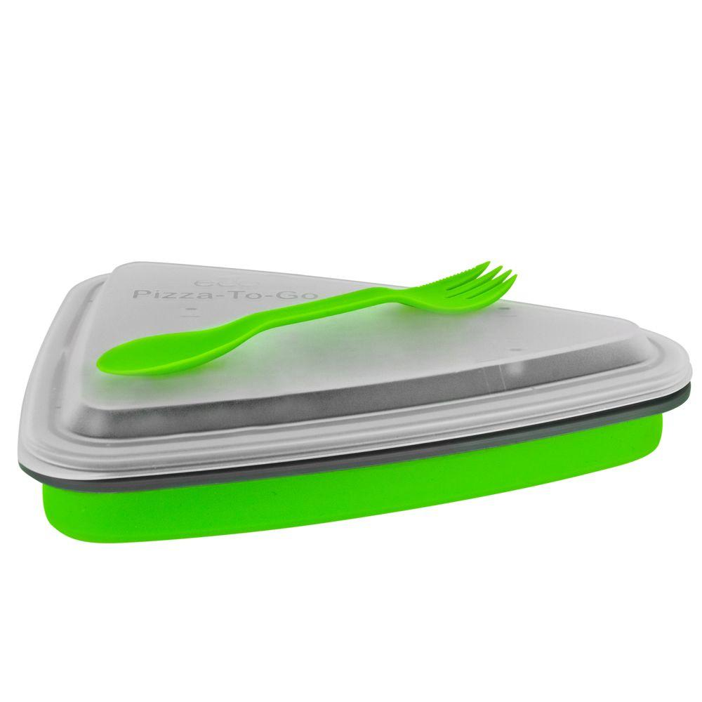 SmartPlanet 44 oz. Collapsible 2 Slice ECO Pizza and Pie Box
