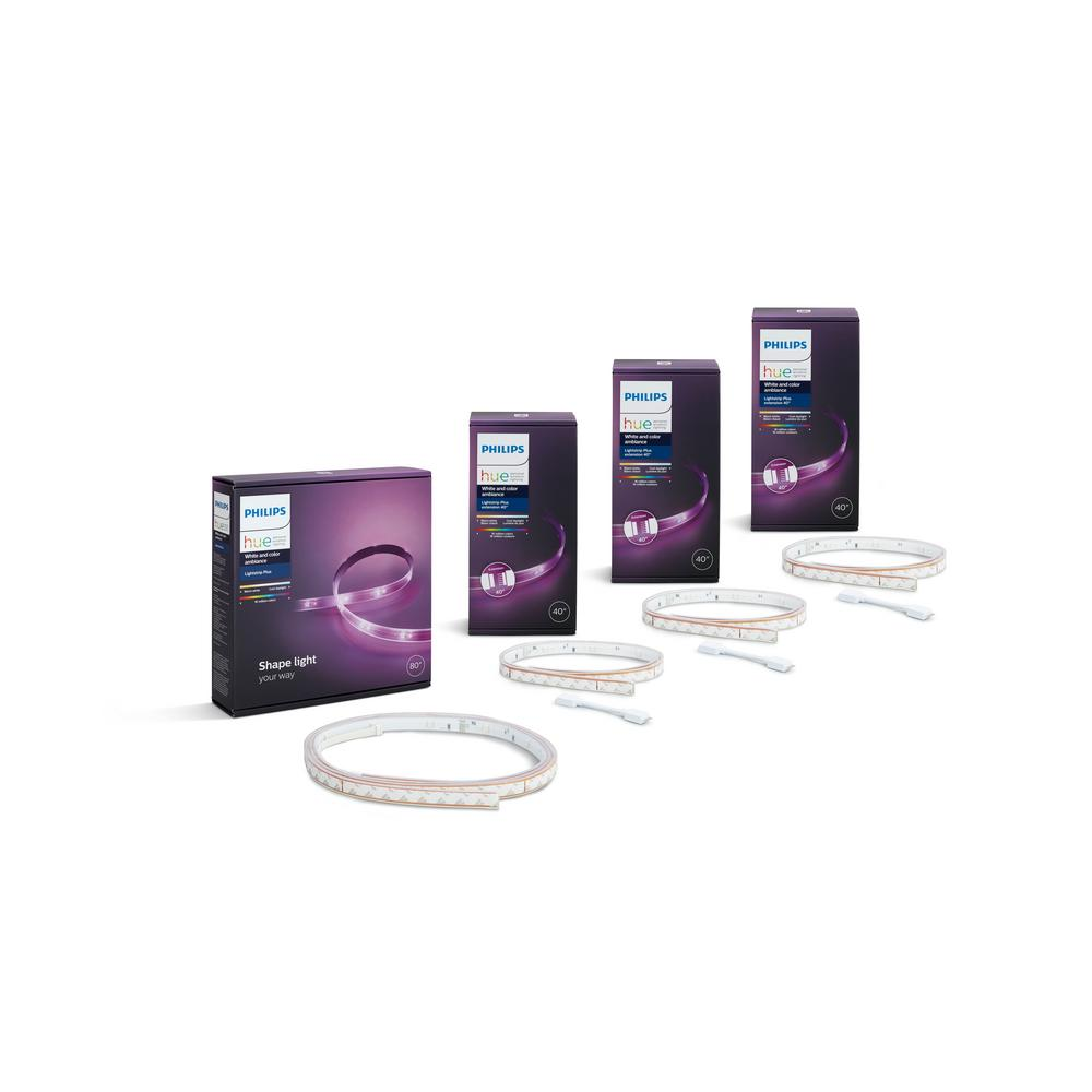 Philips Hue White And Color Ambiance Led Dimmable Light Strip Plus Smart Wireless 1 80 3 40 Extensions