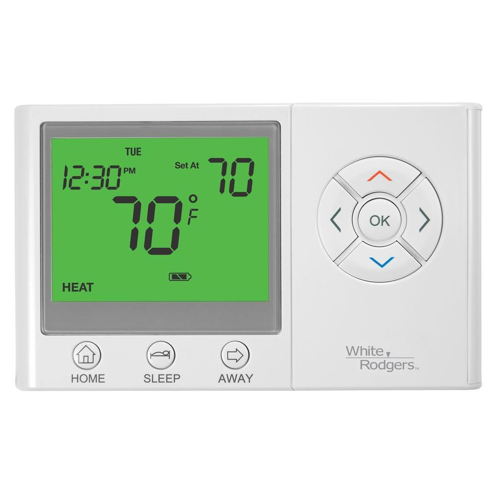 WHITERODGERS White Rodgers UP300 7-Day Universal Programmable Thermostat with Home/Sleep/Away Presets