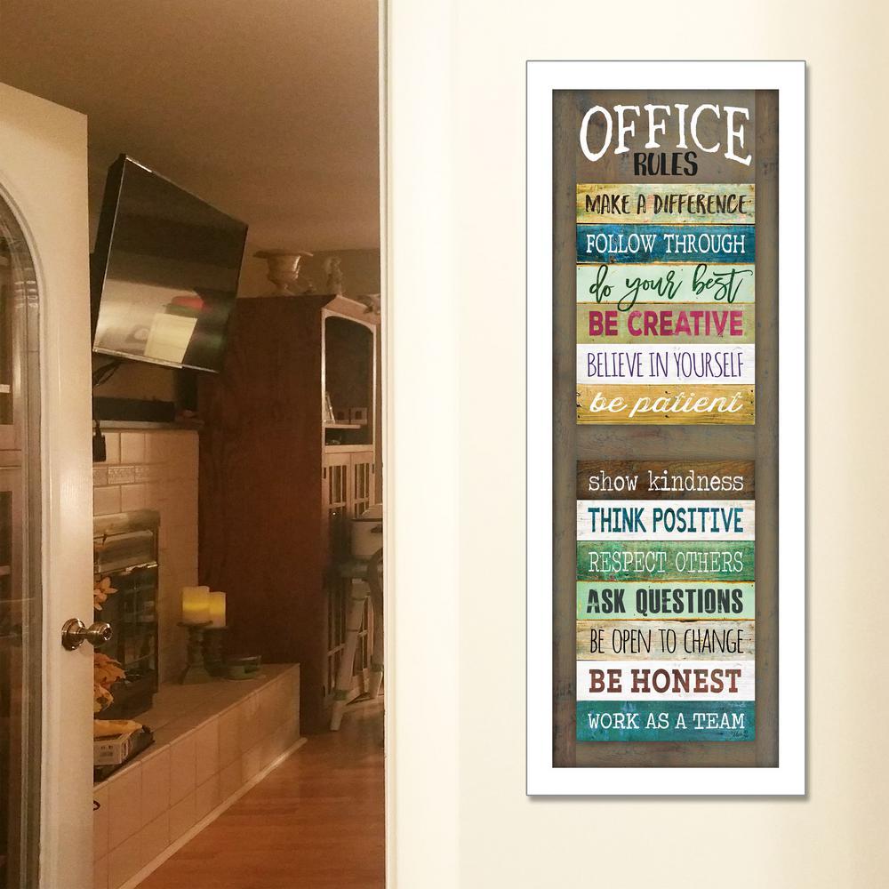 """Office Rules"" by Marla Rae Framed Wall Art"