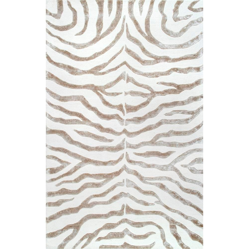 Nuloom Plush Zebra Grey 3 Ft X 5 Ft Area Rug Zf5 305