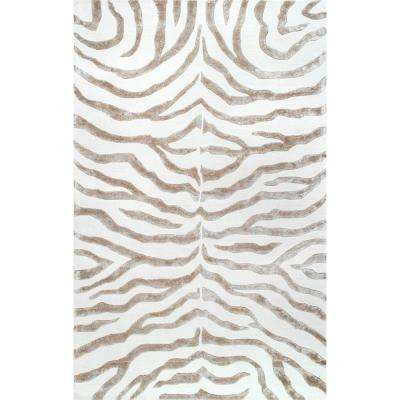 Zebra Stripes Gray 8 Ft X 10 Area Rug
