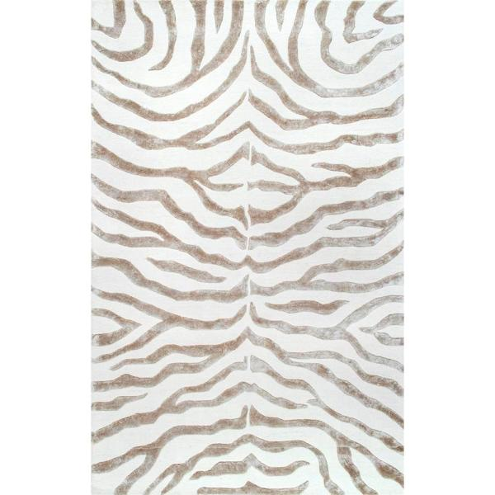 Nuloom Zebra Stripes Gray 9 Ft X 12