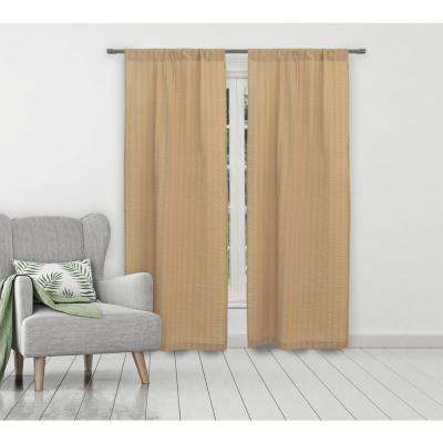Aaliyah Linen Seersucker Pole Top Panel Pair - 40 in. W x 84 in. L in (2-Piece)