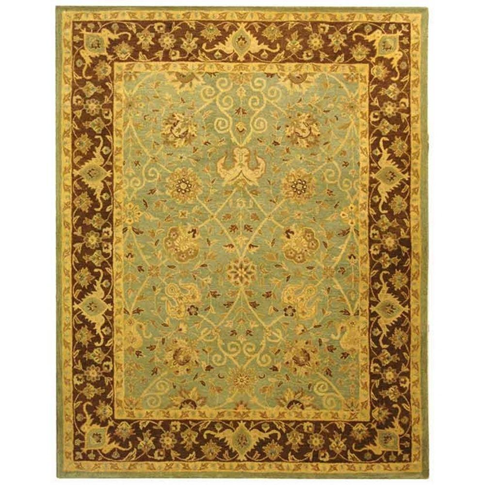 Safavieh Antiquity Green/Brown 7 ft. 6 in. x 9 ft. 6 in. Area Rug