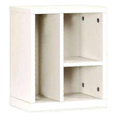 Craft Space 3-Cubby Left Organizer in Picket Fence