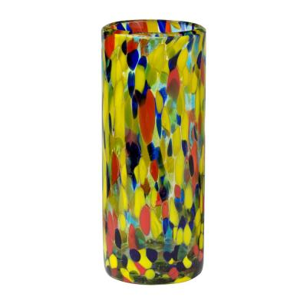 Carnaval 6-Piece Multicolor Glass Hiball Drinkware Set with 16 oz. Capacity